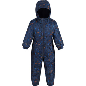 Regatta Printed Splat II Overall Kinderen, dark denim